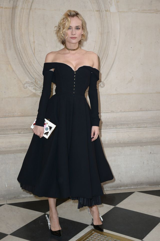 PARIS, FRANCE - JANUARY 23:  Diane Kruger attends the Christian Dior Haute Couture Spring Summer 2017 show as part of Paris Fashion Week on January 23, 2017 in Paris, France.  (Photo by Dominique Charriau/WireImage)