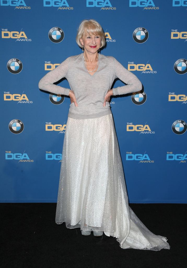04 February 2016 -  Beverly Hills, California - Helen Mirren. 69th Annual Directors Guild Of America Awards - Press Room held at The Beverly Hilton Hotel. Photo Credit: Faye Sadou/AdMedia
