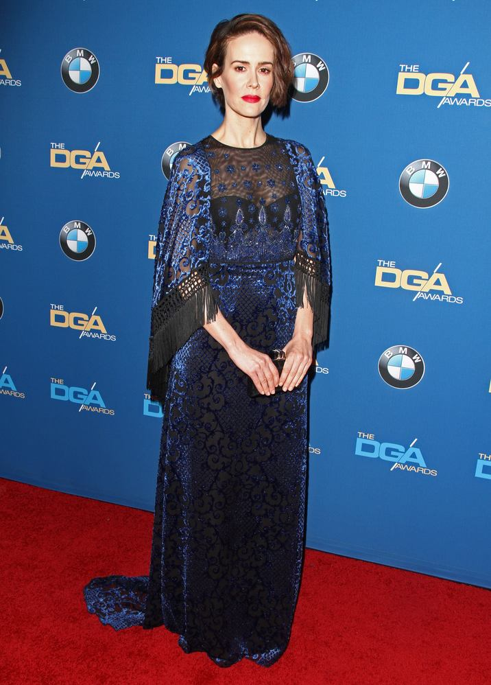 52304743 The 69th Annual Directors Guild Of America Awards held at The Beverly Hilton Hotel in Beverly Hills, California on 2/4/17.  The 69th Annual Directors Guild Of America Awards held at The Beverly Hilton Hotel in Beverly Hills, California on 2/4/17. Sarah Paulson FameFlynet, Inc - Beverly Hills, CA, USA - +1 (310) 505-9876