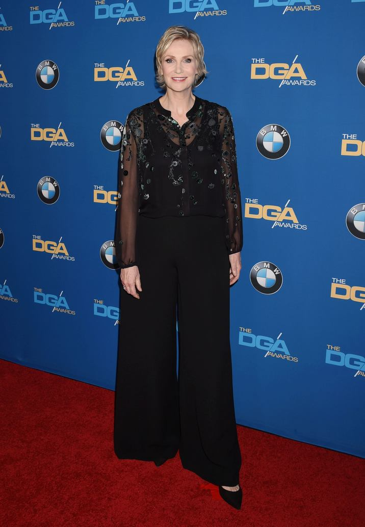 BEVERLY HILLS, CA - FEBRUARY 04: Actress Jane Lynch attends the 69th Annual Directors Guild of America Awards at The Beverly Hilton Hotel on February 4, 2017 in Beverly Hills, California. CAP/ROT/TM ©TM/ROT/Capital Pictures