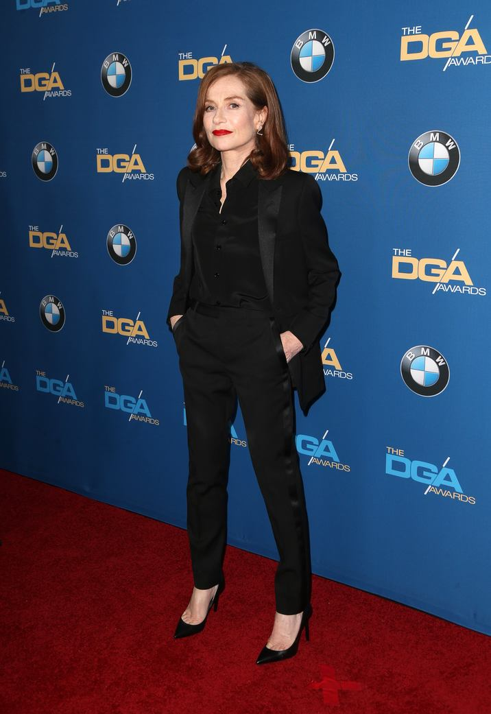 04 February 2016 -  Beverly Hills, California - Isabelle Huppert. 69th Annual Directors Guild Of America Awards held at The Beverly Hilton Hotel. Photo Credit: Faye Sadou/AdMedia CAP/ADM/FS ©FS/ADM/Capital Pictures
