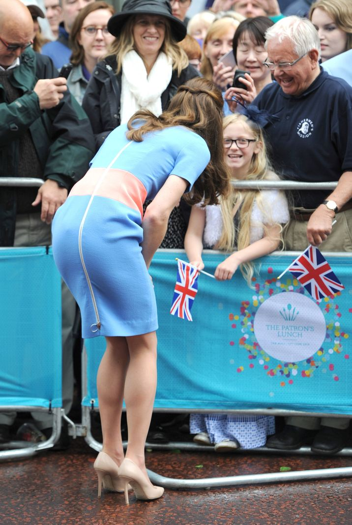 Photo Must Be Credited ©Alpha Press 079965 12/06/2016 Kate Duchess of Cambridge Katherine Catherine Middleton The Patrons Lunch 2016 during celebrations for the Queens 90th Birthday The Mall London