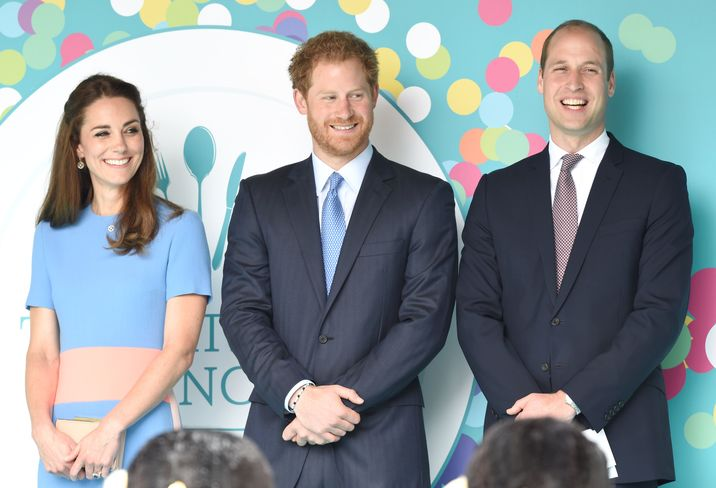 Photo Must Be Credited ©Alpha Press 079965 12/06/2016 Kate Duchess of Cambridge Katherine Catherine Middleton Prince Harry Prince William Duke Of Cambridge The Patrons Lunch 2016 during celebrations for the Queens 90th Birthday The Mall London