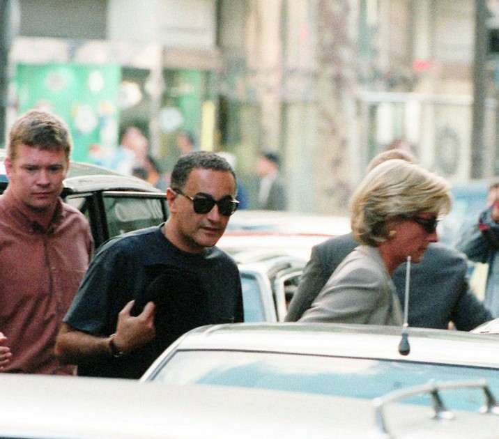 "The last day of Princess Diana was spent in Paris on the 31st of August, 1997, with her boyfriend Dodi al-Fayed, son of Egyptian billionaire Mohamed Al-Fayed. Pictured: Diana and Dodi arrive at their apartment on Arsene Houssaye street with their bodyguards, Alexander ""Kes"" Wingfield and Trevor Rees-Jones Ref:    KCS 310897 M Splash News and Pictures Los Angeles:310-821-2666 New York:212-619-2666 London:207-107-2666 photodesk@splashnews.com www.splashnews.com"