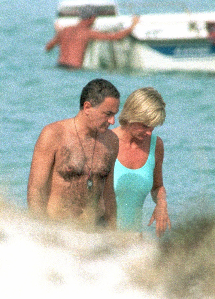 EXCLUSIVE: Picture shows Lady Diana Spencer (aka: Princess Diana Of Wales) and Dodi Al-Fayed holidaying in Portofino. Photos taken in 1997. Pictured: Lady Diana Spencer and Dodi Al-Fayed Ref: SPL415436  100712   EXCLUSIVE Picture by: Splash News Splash News and Pictures Los Angeles:310-821-2666 New York:212-619-2666 London:870-934-2666 photodesk@splashnews.com