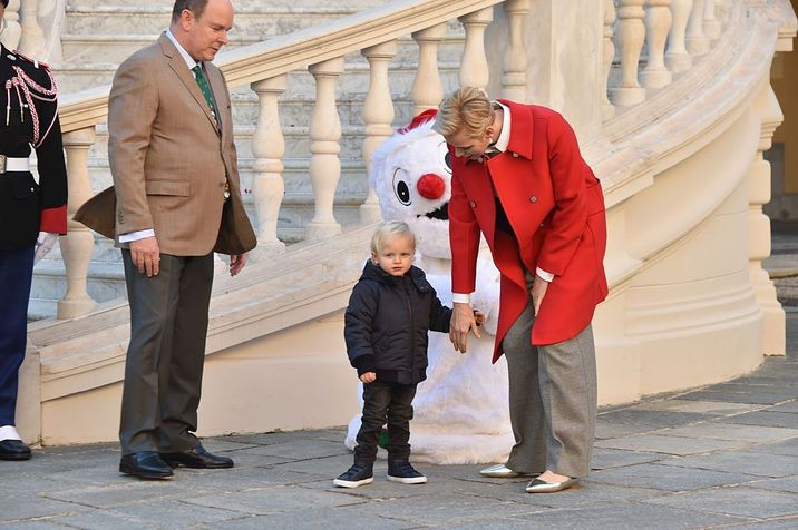 attend the annual Christmas gifts distribution at Monaco Palace on December 14, 2016 in Monaco, Monaco.