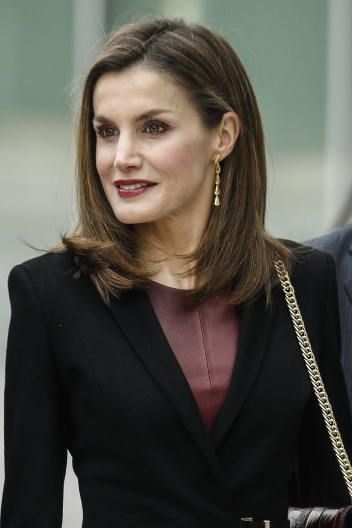 King Felipe VI and Queen Letizia of Spain arrive to visit the National Center of Medical Research for Cardiovascular diseases headquarters in Madrid, Spain on February 9, 2017. Photo by Archie Andrews/ABACAPRESS.COM