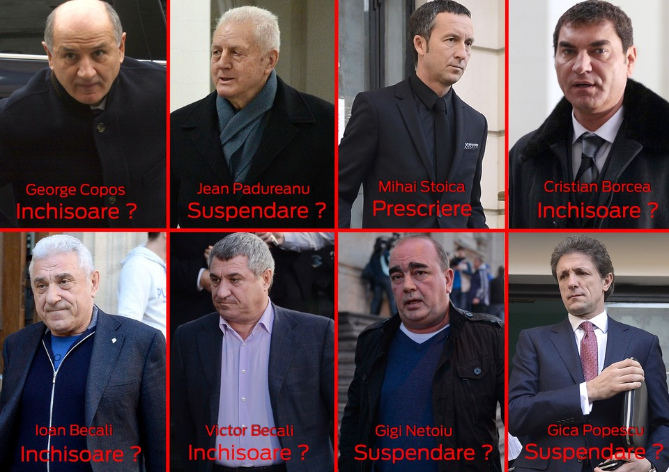 Ziua verdictului| Greii fotbalului romanesc tremura azi! Vezi cine ar putea sa stea dupa gratii si cati ani de puscarie cer procurorii! Afla ce spun astrele depre ce o sa se intample azi cu Copos, Borcea sau fratii Becali