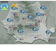 Prognoza meteo pentru marti