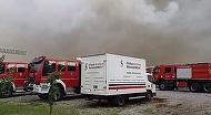 ULTIMA ORA! Incendiu de proportii la un depozit din Ilfov