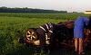 Accident teribil lângă Buzău! Un bărbat de 37 de ani a murit carbonizat în maşină