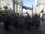 Statie de metrou din centrul Londrei, evacuata, dupa ce un vagon a luat foc