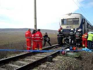 O femeie insarcinata si cei trei copii ai sai au murit loviti de trenul Bucuresti-Constanta