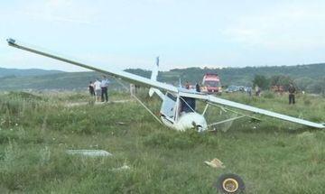 Un avion de mici dimensiuni s-a prabusit in Pascani. Pilotul a murit