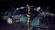 Doi morti si doi raniti, dupa ce o masina condusa de un tanar fara permis s-a rasturnat pe un drum judetean din Sibiu