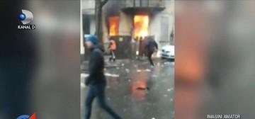 Explozie puternica la un bloc din Bucuresti. Un barbat a fost transportat de urgenta la spital, cu arsuri pe aproape tot corpul. De la ce a pornit focul?