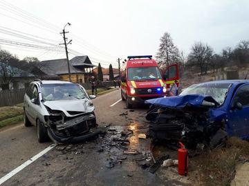 Grav accident in Arges: Sase victime, intre care un copil, au ajuns la spital