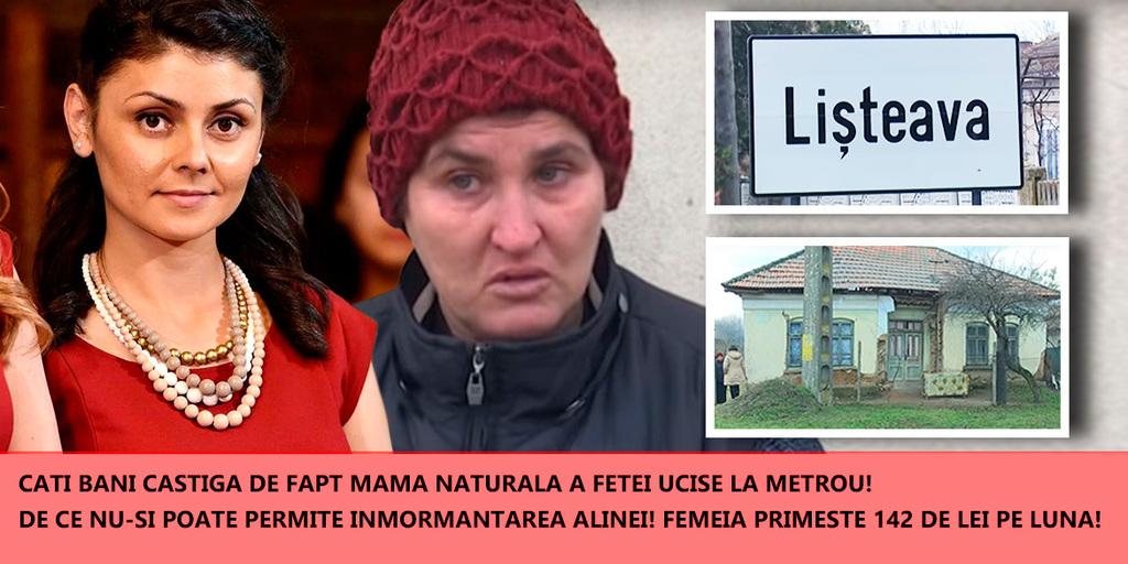 Cati bani castiga mama naturala a fetei ucise la metrou! De ce nu-si poate permite inmormantarea Alinei Ciucu