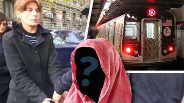 La New York a avut loc o crima asemanatoare celei de la statia Dristor! O tanara cu o esarfa roz pe cap a impins o femeie in fata metroului