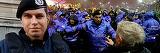 Cat de bogat este jandarmul care a batut un batran la protestul de sambata seara! Serban Raducu are o functie importanta in Jandarmerie si un salariu pe masura!