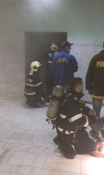 Incendiu la Spitalul Universitar din Capitala