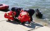 Incident grav pe Splaiul Unirii din Capitala! Un barbat s-a aruncat in raul Dambovita
