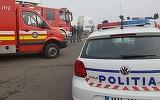 Galati: sase persoane au fost ranite, dupa ce un autotren s-a ciocnit violent cu un autobuz, sub un pod feroviar