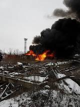 Incendiu violent la o fosta rafinarie din Ploiesti!