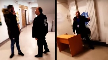 Scene halucinante! Un tanar a fost batut pe holurile Spitalului Municipal