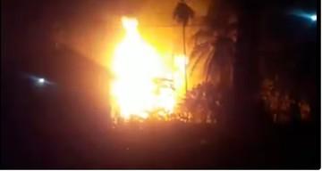 Un incendiu violent la un put ilegal a ucis 10 oameni si a ranit peste 40. Pompierii nu pot sa stapaneasca focul