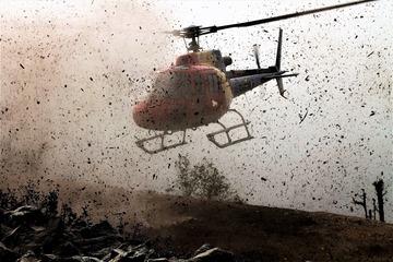 Un elicopter folosit pentru munci agricole s-a prabusit! La Turda s-a intervenit de urgenta