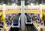 SMURD la statia de metrou Aurel Vlaicu. Trenurile au fost oprite pentru ca persoana nu putea fi miscata din garnitura