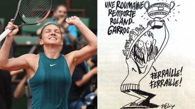 Charlie Hebdo, prima reactie dupa scandalul caricaturii cu Simona Halep! Ce spune revista despre romani