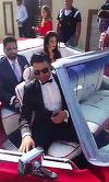 VIDEO! Primele imagini cu Pepe si Raluca la nunta lui Connect-R! Uite cat de eleganti sunt nasii cantaretului care se insoara azi!