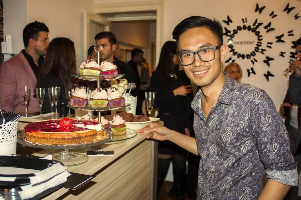 Mehrzad si Nini de la MasterChef se inteleg perfect in bucatarie! Cei doi fosti concurenti au gatit la deschiderea unui salon de infrumusetare din Bucuresti!
