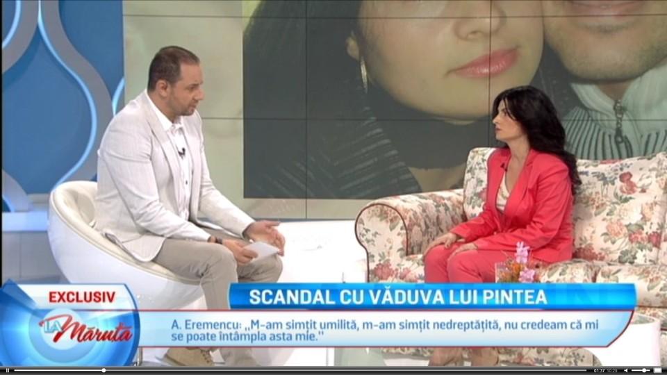 """EXCLUSIV! Scandal colosal! Catalin Maruta, dat in judecata de Lavinia Pintea! Vaduva marelui actor sa rafuieste in tribunal si cu femeia care a acuzat-o ca i-a furat barbatul, dar si cu PRO TV! Cere despagubiri uriase pentru """"prejudicierea imaginii"""": 100.000 de euro!"""