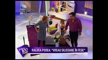 VIDEO Raluca Podea s-a ascuns dupa canapea si si-a bagat asta in pantaloni, in direct! Mama, cum arata cand a iesit