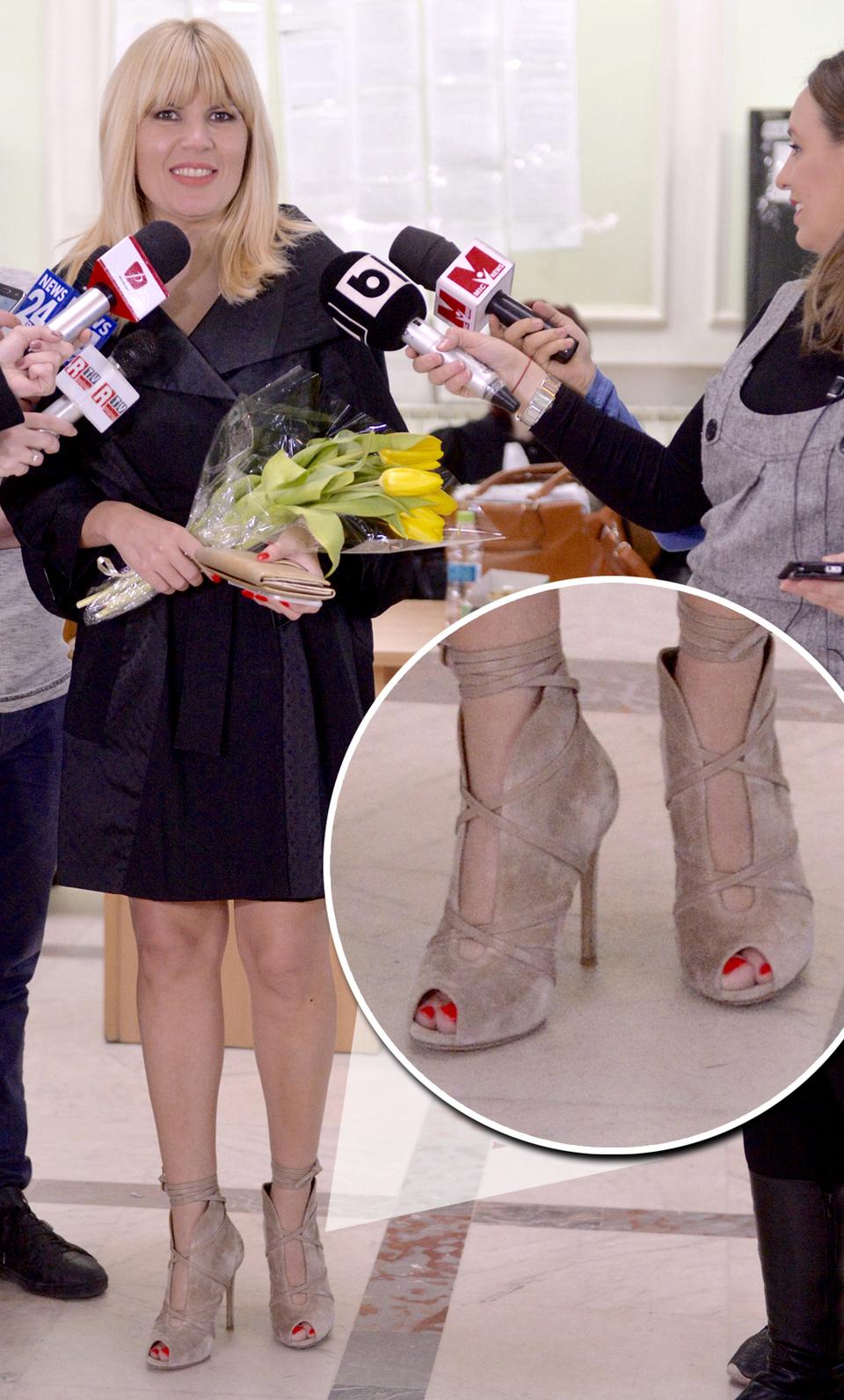 EXCLUSIV! Elena Udrea, in fata judecatorilor cu pantofi noi de peste 800 de euro! I-a purtat prima data fix in ziua in care a cerut anularea cautiunii stabilite de DNA