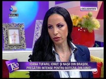 VIDEO Ea este nasa copilului Ioanei Tufaru! Mihaela este din Brasov si isi doreste foarte mult sa il boteze pe Luca!