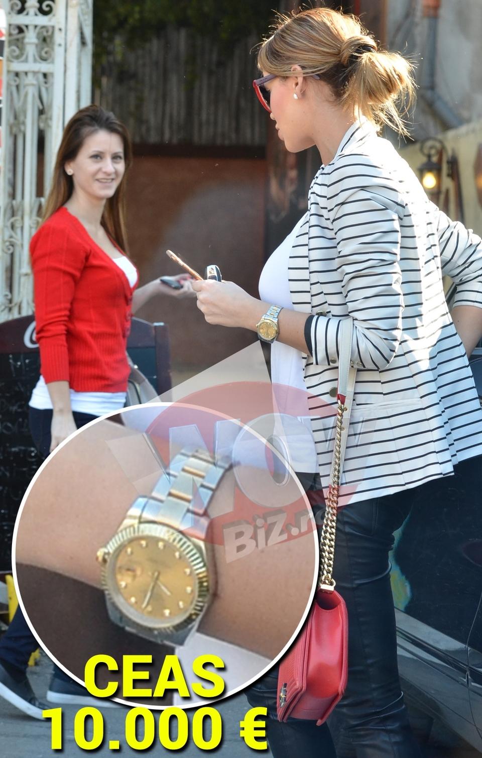 """VIDEO EXCLUSIV! WOW! Bianca a iesit sa ia pranzul in oras cu fetele si... s-a imbracat de 20.000 de euro! Culmea, nu era nici o ocazie mai deosebita! Pretul gentii se ridica la 4.500 de euro, iar ceasul, la... """"doar"""" la 10.000 de euro!"""