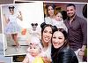 FOTO EXCLUSIV! Party de senzatie pentru fiica lui Pepe! Nasii Andra si Maruta i-au rupt turta finutei lor, Rosa! Avem cele mai emotionante fotografii