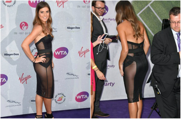 Sorana Carstea i-a innebunit pe englezi cu formele sale! Tenismena a venit la petrecerea de la Wimbledon intr-o rochie transparenta, prin care s-a vazut totul!