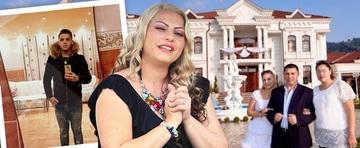 Resedinta fastuoasa a Nicoletei Guta din Petrosani are faianta si in sufragerie! Manelistasi-a amenajat dupa ureche vila primita cadou de la Nicolae Guta!