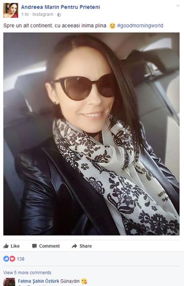 """A divorţat de Tuncay Ozturk, dar Andreea Marin e """"legată"""" de el pentru totdeauna! Detaliul care a dat-o de gol pe vedetă"""
