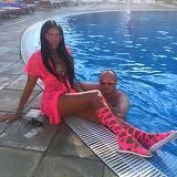 Cum a putut sa se imbrace Dana Criminala cand a mers la piscina cu Leo? Bruneta vrea sa lanseze o noua moda