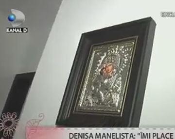 """Primele imagini cu icoana la care Denisa Manelista s-a rugat in lacrimi pana in ultimul moment! """"E sfintita, e cadou de la matusa mea"""". Solista era foarte credincioasa. FOTO!"""