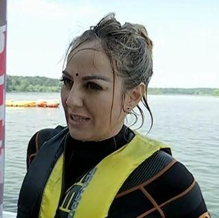 Florentina Opris nu are stare nici la 49 de ani! A valsat la 5 metri deasupra apei