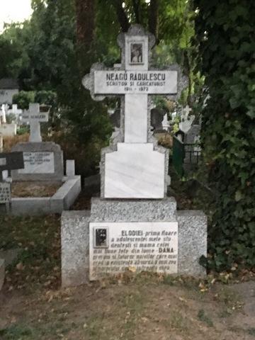 El este scriitorul celebru care a iubit-o la nebunie pe Elodia! Pe piatra funerara a lui Neagu Radulescu e scris un mesaj pentru femeia pe care a divinizat-o. FOTO EXCLUSIV!