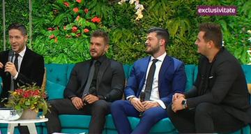 Cei mai ravniti barbati din Romania, confesiuni la Teo Show! Jorge, Bogdan Vladau, Victor Slav si Bursucu au vorbit despre... prima data!