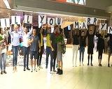 Fiica lui Florin Salam, ceruta in casatorie in aeroport! Imagini EXCLUSIVE, azi, la Teo Show, de la 15:00!